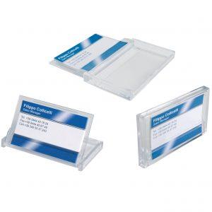 Portabiglietti da visita tascabile, in plexi dim. 90x55x10 mm