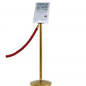 Porta Avvisi per colonnine formato A4 verticale