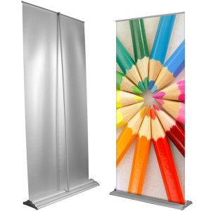 Porta Banner Roll up telescopico cm 85×180/230