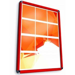 Cornice a scatto rossa 100×140