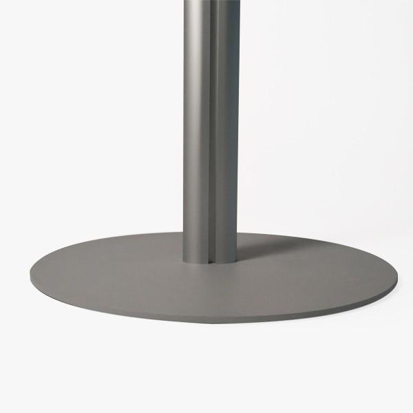 base con montante dia ovale 70x35 mm