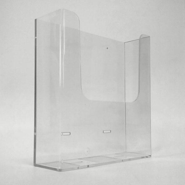 porta depliant da parete in plexiglass