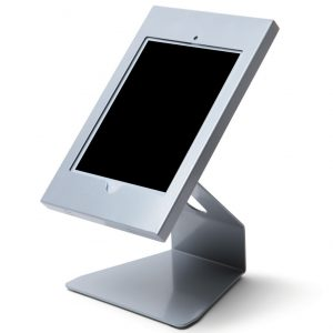 Supporto per IPAD 10″ da banco silver