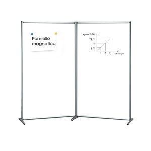 Pannello divisorio magnetico doppio