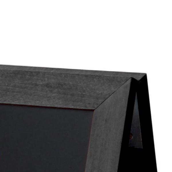 dettaglio angolo lavagne a cavalletto in legno
