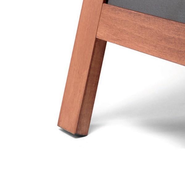 gamba lavagne a cavalletto in legno
