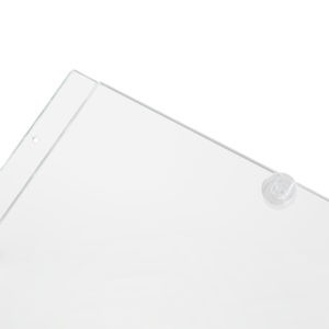 Tasche in plexi per espositori a cavetti con clip di chiusura