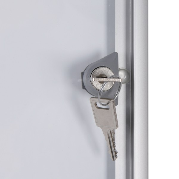 bacheca porta avvisi con serratura