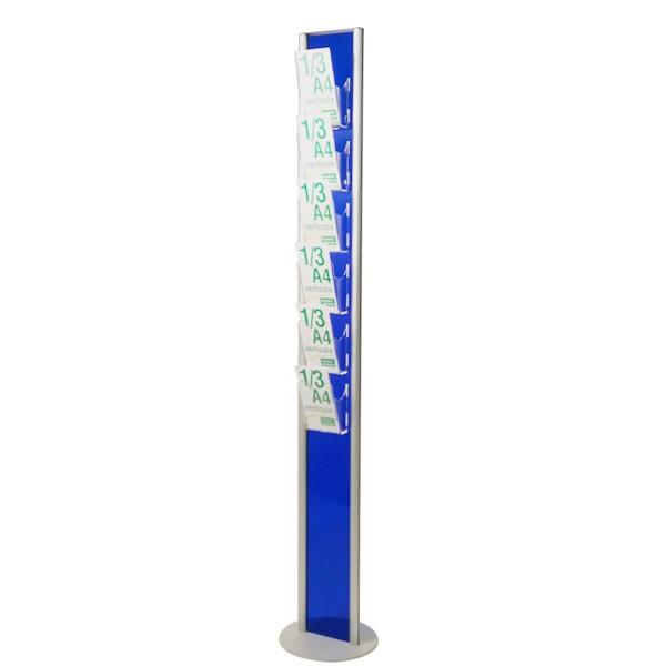 porta depliant 1/3 A4 blu