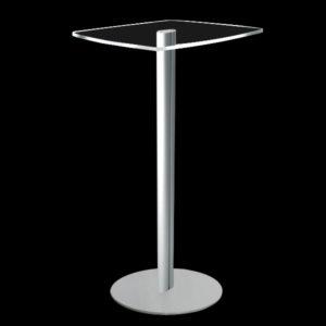 Tavolo Help Desk in plexiglass con base con montante singolo