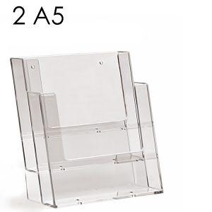 Portadepliant da parete 2 tasche formato A5