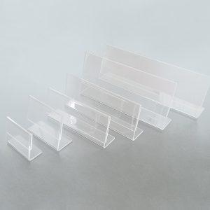 Segnaposto in plexiglass, base a L