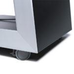 struttura digitale porta monitor con ruote