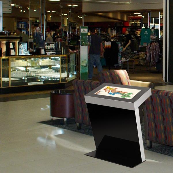 espositore con monitor per centri commerciali