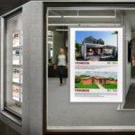 cornici a led per vetrina agenzia immobiliare