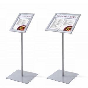 Leggio porta menù per esterni 2xA4 personalizzabile con logo