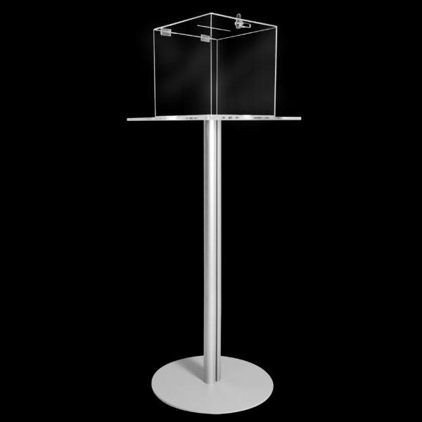 tavolino con urna in plexiglass