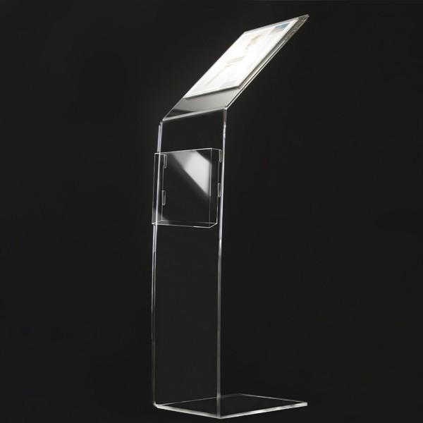 Leggio Da Terra Plexiglass.Leggio In Plexiglass Porta Avvisi E Porta Depliant Elegante Da
